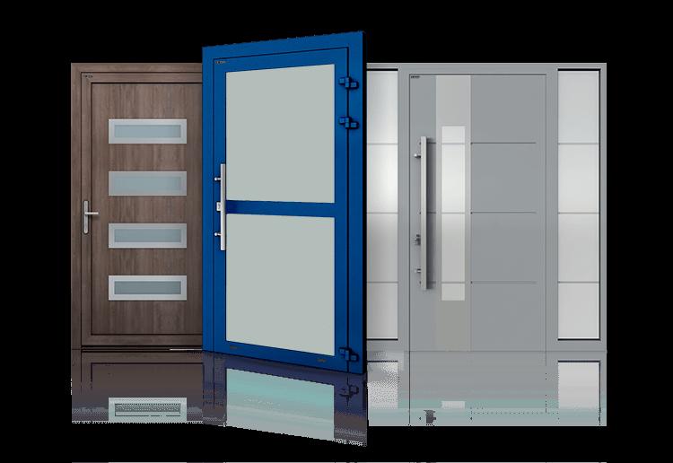 Drzwi aluminiowe przemysłowe