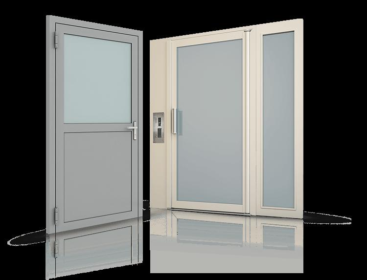 Stalowe drzwi profilowe