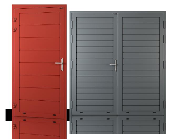 Aluminiowe drzwi panelowe boczne