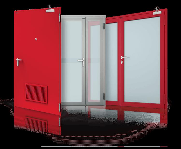 Drzwi stalowe przeciwpożarowe
